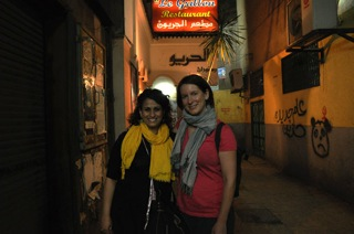 Elizabeth and Nesrine, local filmmaker